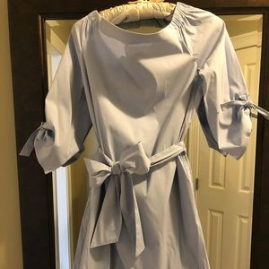 J. McLaughlin Cotton Percale Shirt dress in LtBlue